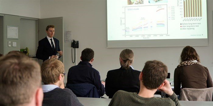 Theis Løye Skafte defended his thesis on Lifetime Limiting Effects in Pre-Commercial Solid Oxide Cell Devices at DTU