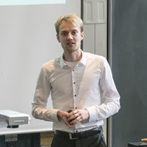 Mikkel Rykær Kraglund at his PhD defense 13/10 2017